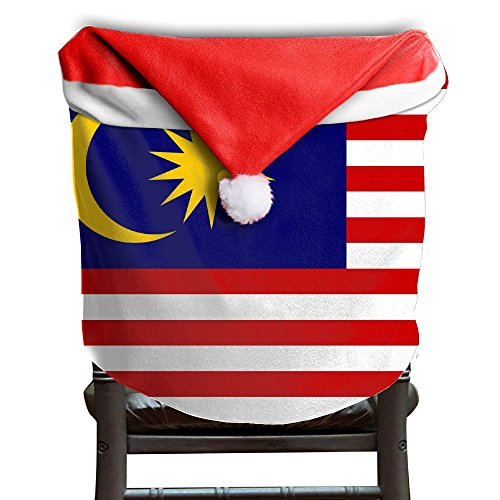 Flag Of Malaysia Christmas Chair Back Cover Dining Chair Slipcovers Party Decor For Xmas - Wings Band Malaysia
