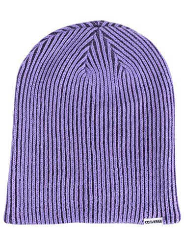 bab8d8e7093 Converse Rib Knit 2-In-1 Fuchsia Watch Cap Beanie Hat (One Size Fits ...