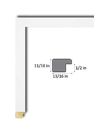 Amazon.com - 27x39 Modern White Wood Poster Frame, UV Acrylic Clear ...