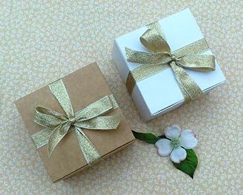 Pack d 6 cajas pequeñas de regalo (código B) cartulina plana auto montaje caja de regalo para chocolate, joyas, regalos pequeños: Amazon.es: Oficina y ...