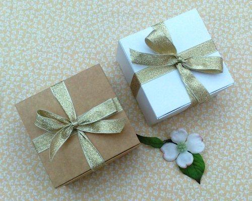 Geschenkschachteln 6 Stück (Code#B) Karton flach zum selbst falten für Pralinen, Schmuck, kleine Geschenke.