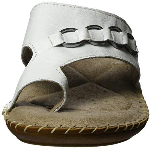 Jana 27108, Sandalias con Cuña Para Mujer Blanco (White 100)