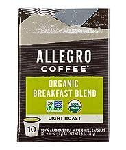 Allegro Coffee Organic Breakfast Blend Coffee Capsules, 3.8 oz, 10 ct