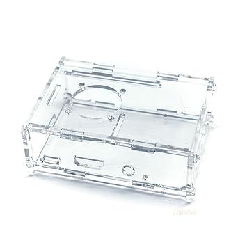 Carcasa protectora transparente para Raspberry Pi Modelo B + ...