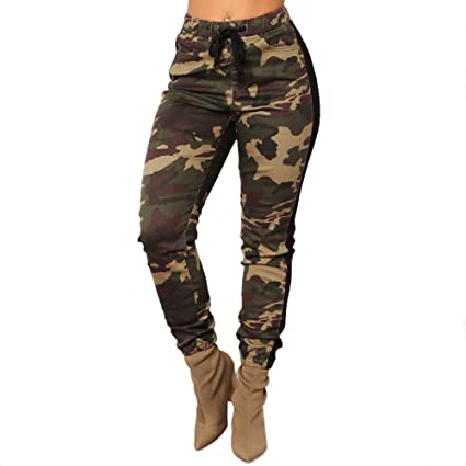 a7265b05fe525 EraseSIZE Womens Camo Trousers Casual Pants Military Army Elastic waistt Camouflage  Pants, Fashion Soft and Comfortable from Size S - XL, ...