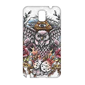 Owl Old School Tattoo Design 3D Phone Case for Samsung note3