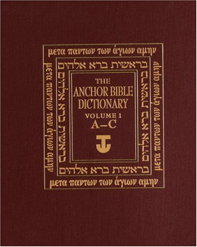 Anchor Bible Dictionary Pdf