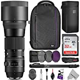Sigma 150-600mm 5-6.3 Contemporary DG OS HSM Lens for NIKON DSLR Cameras w/ Advanced Photo and Travel Bundle