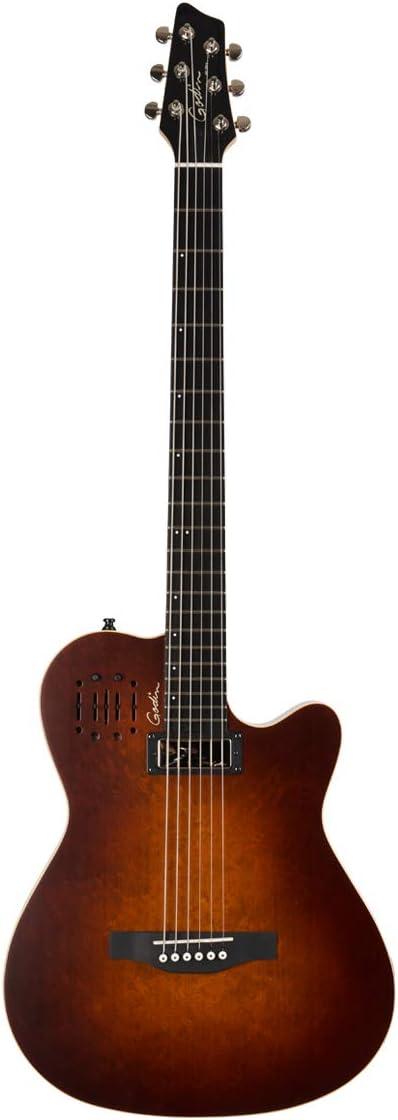 Godin una serie A6Ultra barítono Electroacústica guitarra Burnt Umber