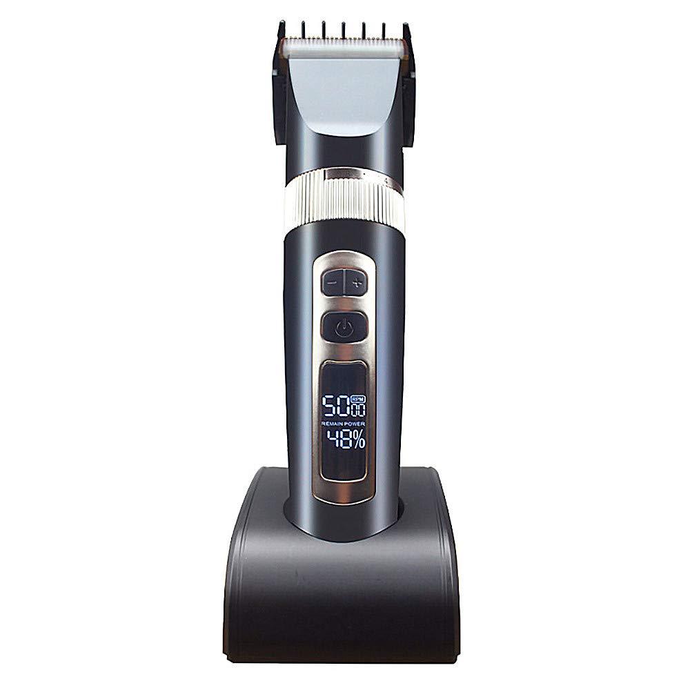 Finly Electric Hair Clipper Hair Clipper Shaving Hair Charging Pusher Hair Clipper LCD Screen Hair Clipper