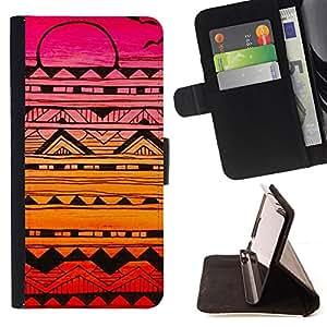 "For Samsung Galaxy J1 J100,S-type Aves Patrón dibujado mano de la pluma del arte"" - Dibujo PU billetera de cuero Funda Case Caso de la piel de la bolsa protectora"