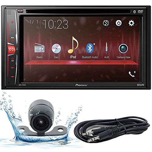 Pioneer AVH-210EX 6.2 WVGA Display Multimedia DVD Receiver, and Built-in Bluetooth with Backup Camera and EMB 3.5mm Aux Cable Included