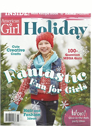 AMERICAN GIRL, HOLIDAY FANTASTIC FUN FOR GIRLS MINI RECIPE BOOK & ANIMAL - Fun Holidays January In