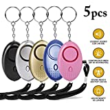 Personal Alarm,Justdolife 130 dB Safe Sound Personal Alarm Keychain with LED Flashlight Loud Emergency Self Defense Device for Women Kids and Elders,Night Workers