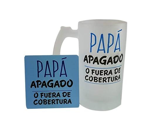 MISORPRESA Jarra Cristal con Posavasos DE Regalo Mensaje Papa ...