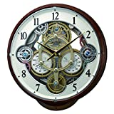 Rhythm Clocks ''Widget'' Magic Motion Clock, Woodgrain