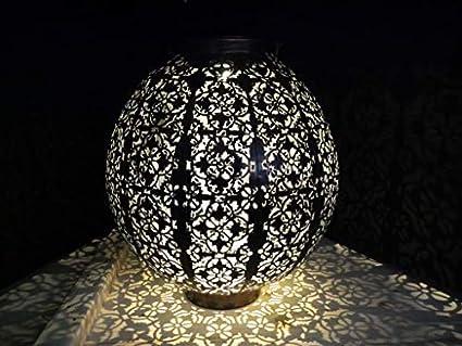 Garden mile ornato damasque stile metallo sagoma solare led lanterna