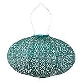 Allsop Home & Garden 32025 Soji Stella Prism Led Outdoor Solar Lantern, 11'', Pearl