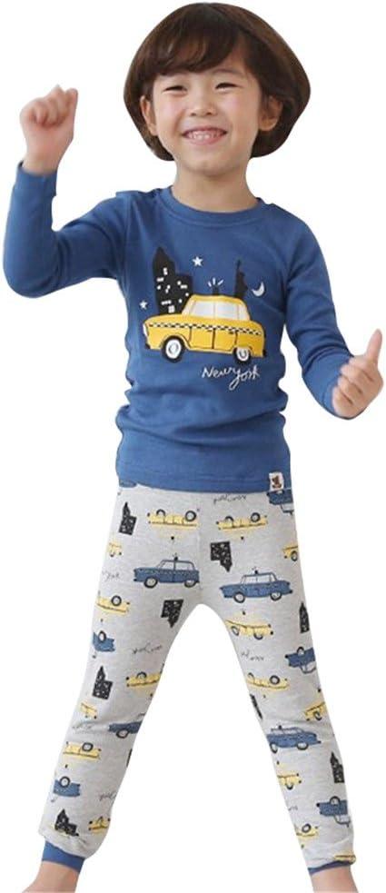 Highdas Jungen M/ädchen Pyjama Set 2 St/ück Schlafanzug Nachtw/äsche Kleinenkind Schlaf /Änzuge Nachtwear Suit Kinder Baby Toddler Baumwolle Pyjamas Sleepwear f/ür Herbst Winter Fr/ühling