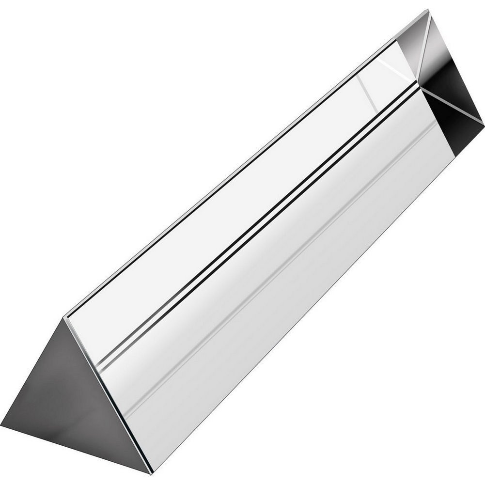 Mribo Optical Glass Triangular Prism, 6 Inches