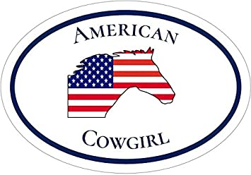 Perfect Country Gift Patriotic Bumper Sticker WickedGoodz Oval American Flag Tractor Farm Proud Vinyl Decal