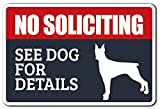 Best No Soliciting Signs - No Soliciting See Dog For De Novelty Sign Review