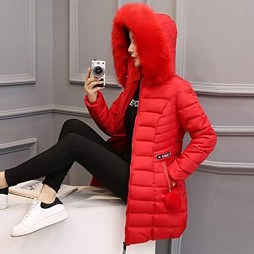Femmes Long Veste Rouge Capuche M Épais Coton hautskeerads Parka Poche Chaud Printemps xxxl Top Hiver À Manteau De Outwear Col Fourrure 8qw5XWg
