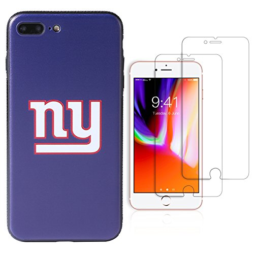 """Sportula NFL Phone Case for iPhone 7 Plus/iPhone 8 Plus (5.5""""), Give 2 Premium Screen Protectors Extra Value Set (New York Giants)"""