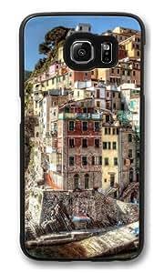 Hdr Riomaggiore Italy Custom Samsung Galaxy S6/Samsung S6 Case Cover Polycarbonate Black
