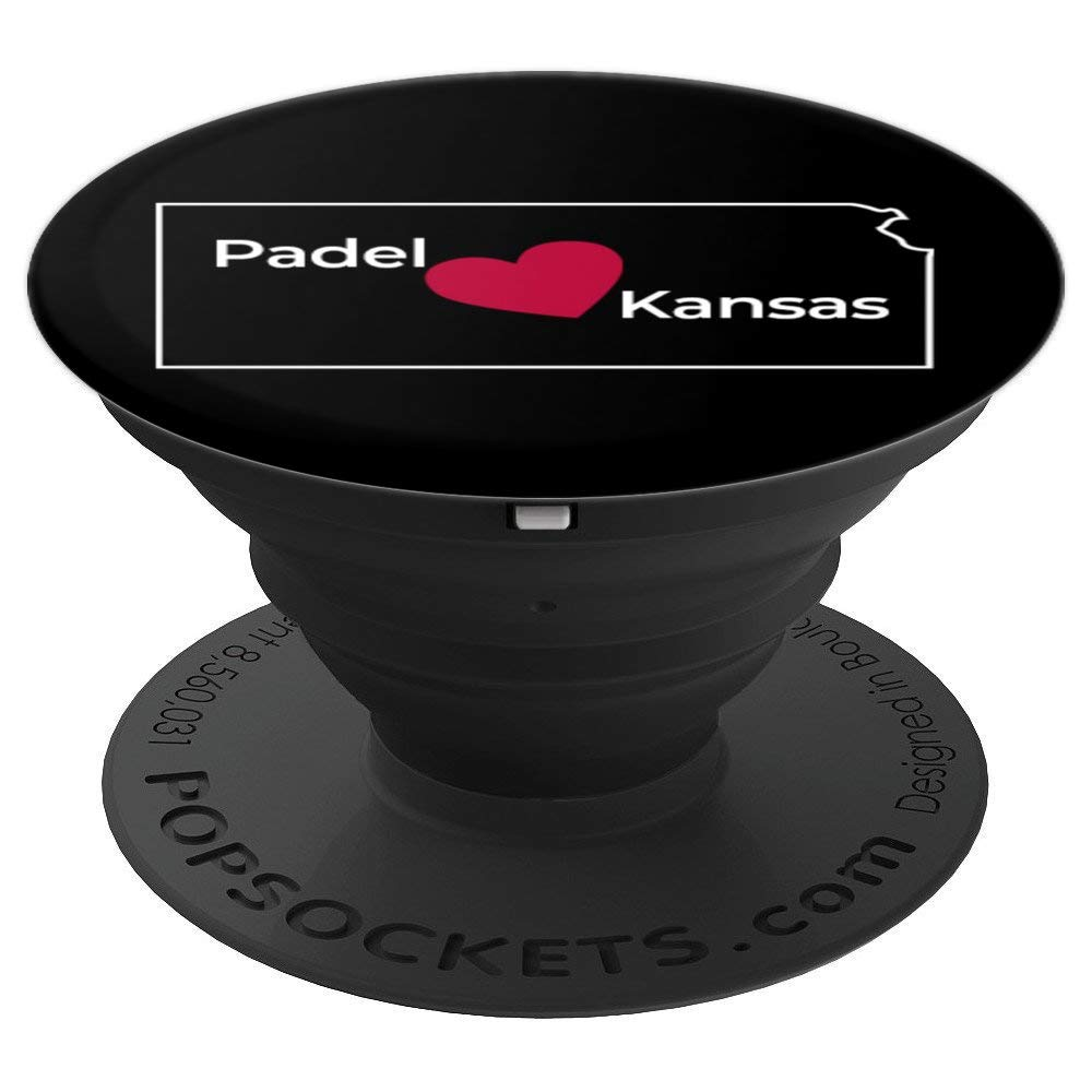 Amazon.com: Padel Kansas State Coral Red Heart BLACK - PopSockets Grip and Stand for Phones and Tablets: Cell Phones & Accessories