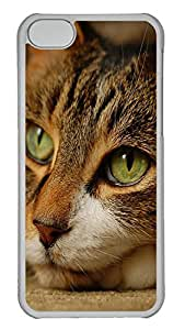 iPhone 5C Case Green Cats Eye PC iPhone 5C Case Cover Transparent