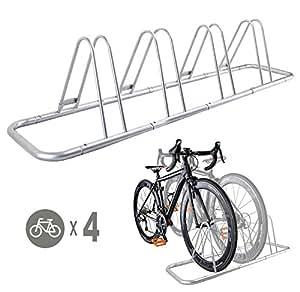 Amazon.com : 4 Bike Bicycle Floor Parking Rack Storage