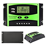 Folconauto 30a Solar Controller 12/24v Automatic Identification Solar Smart Charging Light Controller