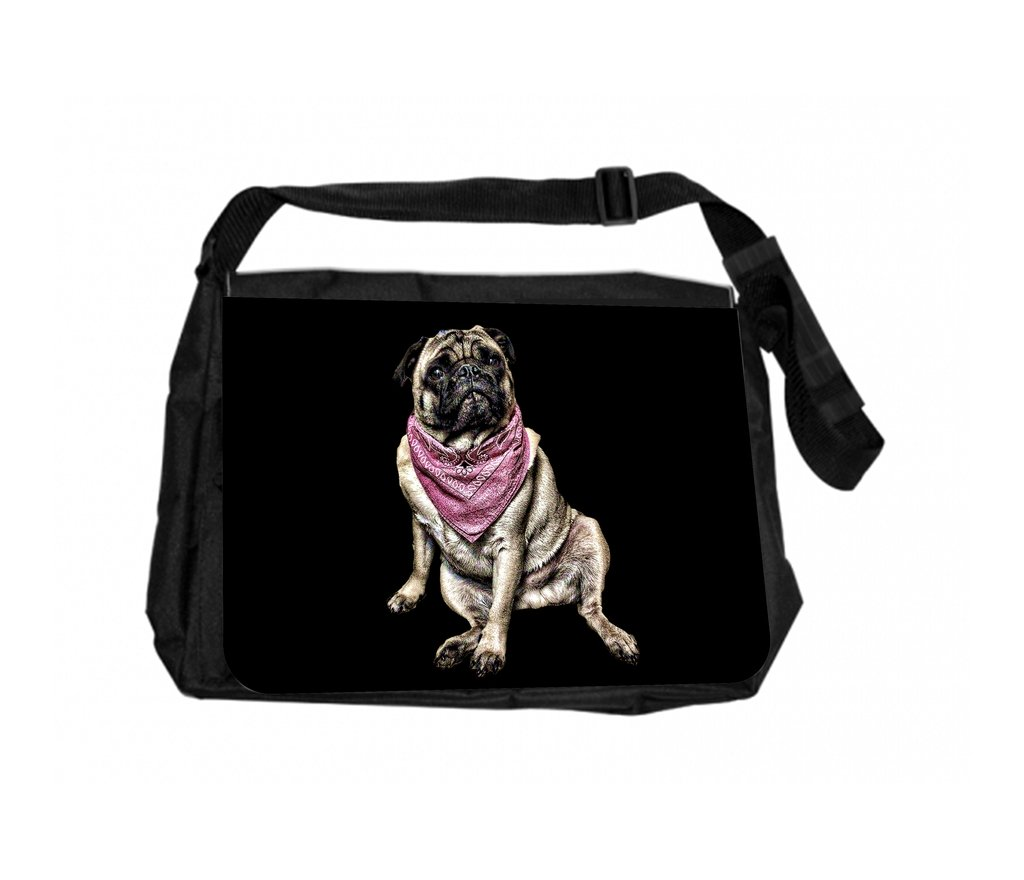 Pug In A Bandana Jacks Outlet School Backpack and Pencil Case Set