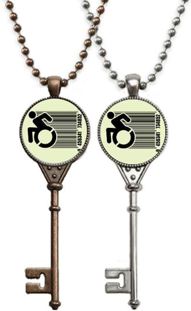 OFFbb-USA - Collar con colgante para silla de ruedas, diseño de pareja