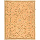 Safavieh French Tapis Collection FT410B Handmade Beige and Sage Premium Wool Area Rug (5' x 8')