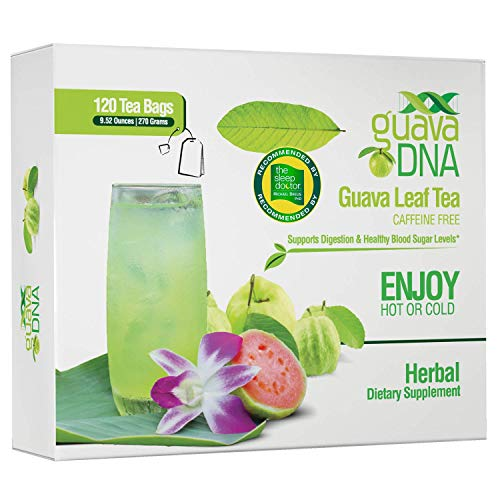 Guava Leaf Tea 120 Individually Wrapped Teabags | 100% Pure Guava Leaves, Nothing Else Added. | Great For Digestion & Anti-Diarrhea Support | Sleep Teas