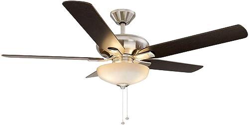 Hampton Bay 57269 Holly Springs 52″ LED Brushed Nickel Ceiling Fan Light Kit