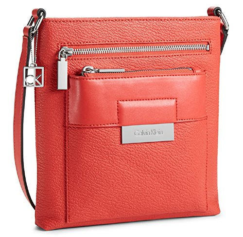 Calvin Klein Valerie Triple Zip Pack Crossbody Bag Handbag Cerise 36052957