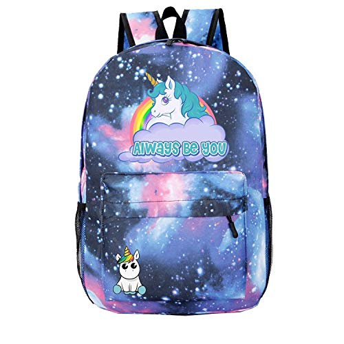 Amazon.com: Starry Sky Cute Unicorn Dab Cartoon Backpack Men Schoolbag Women Travel Shoulder Bag Teenage Canvas Mochila Mujer Womens: Kitchen & Dining