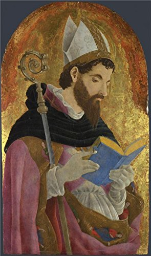 Marco Carta Costume (Perfect Effect Canvas ,the High Definition Art Decorative Prints On Canvas Of Oil Painting 'Marco Zoppo-A Bishop Saint, Perhaps Saint Augustine,1468', 18x30 Inch / 46x77 Cm Is Best For Basement Gallery Art And Home Artwork And Gifts)