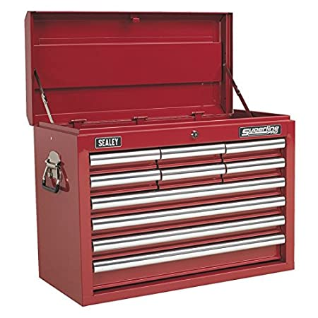 Sealey Ap33109 Topchest 10 Drawer With Ball Bearing Slides Red
