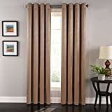 "Lorraine Home Fashions 09306-84-00174 COCOA Aurora Grommet Window Curtain Panel, 55"" x 84"", Cocoa"