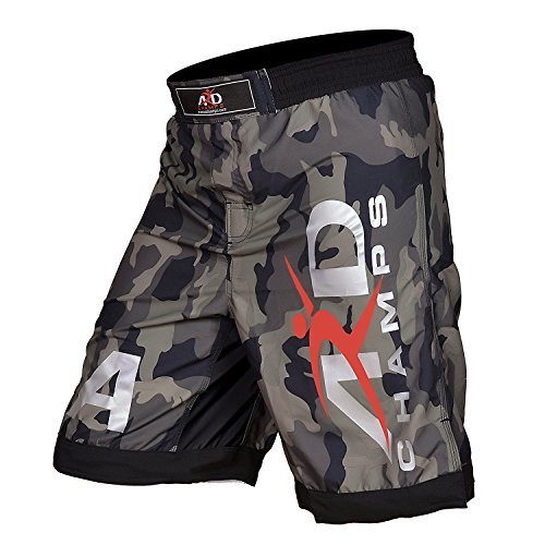 ARD Camo Pro MMA Fight Shorts Camouflage UFC Cage Fight Grappling (Split Seam Fight Shorts)