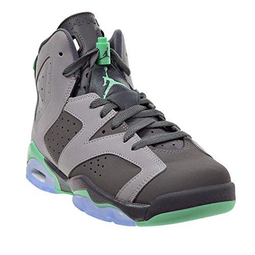 Nike Air Jordan 6 Retro Gg, Zapatillas De Baloncesto para Niñas cmnt gry/grn-drk gry-grn g