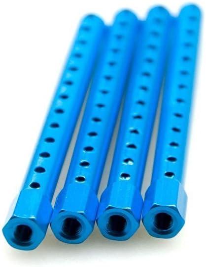 KingModel-CA Aluminum Alloy Body Post Mounts 122037 for HSP RC 1//10 Car Upgrade Parts 94122 94123 Pack of 4 Pcs Blue