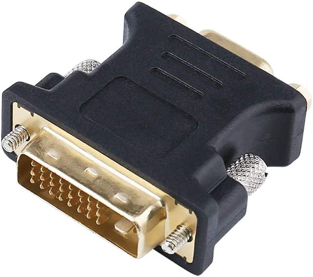 DTECH DVI Male to VGA Female Adapter DVI-I 24+5 Port Converter