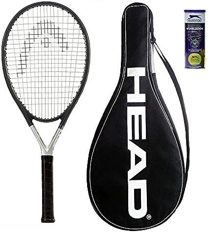 Head Ti S6 Raqueta de Tenis L4 + 3 Pelotas de Tenis de Slazenger ...