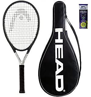 HEAD Ti S6 Tennis Racket + 3 Slazenger Tennis Balls and Cover 1175cc23e5