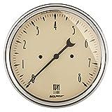 """Auto Meter 1899 Antique Beige 5"""" 8000 RPM In-Dash Tachometer"""